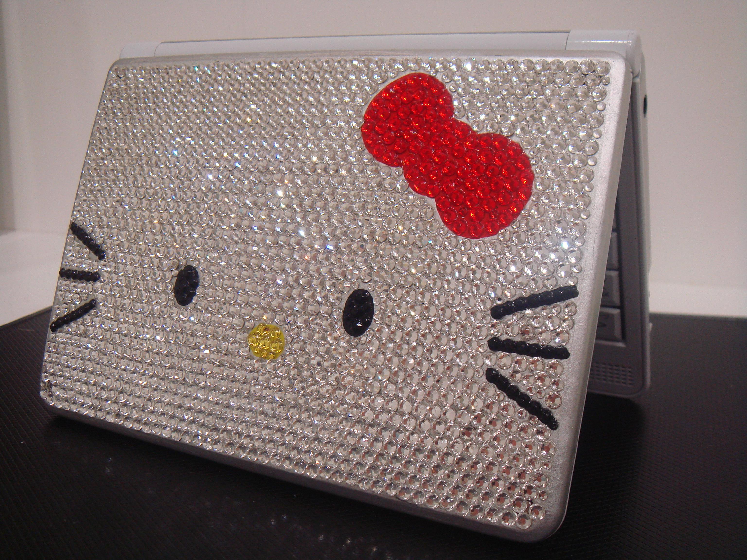 デコ パソコン キティ サンリオ